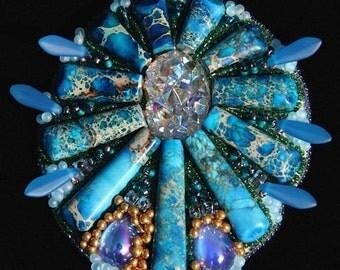 Blue Goddess pendant