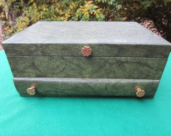 Vintage JEWELRY BOX full of Estate Costume Jewelry