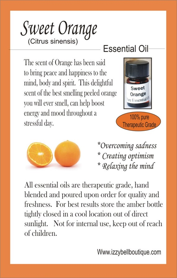 what are the benefits of orange essential oil