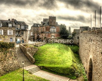 Medieval Village of Dinan, France Travel Photography,  8x10, 11x14, 16x24, 20x30 Home Decor