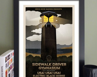 "Sidewalk Driver Gig Poster // TT the Bear's Place, Cambridge, MA 13""x19"""