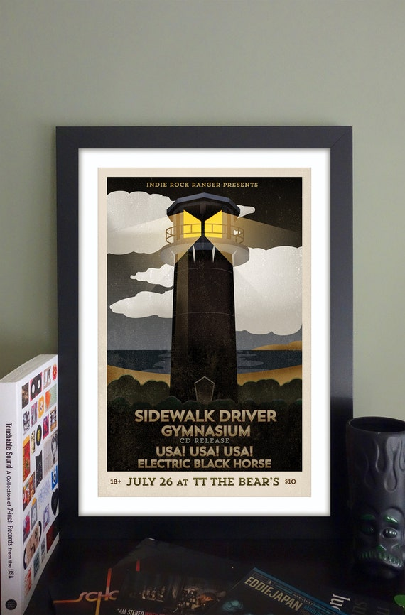 "Sidewalk Driver Gig Poster // TT the Bear's Place, Cambridge, MA 13""x19"""