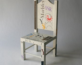 Typography Miniature Chair