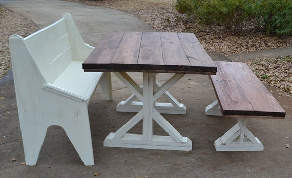 8 ft Farmhouse Table X Style by SimplySouthernHome on Etsy