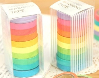 Colorful Washi Tape (set of 10 rolls)