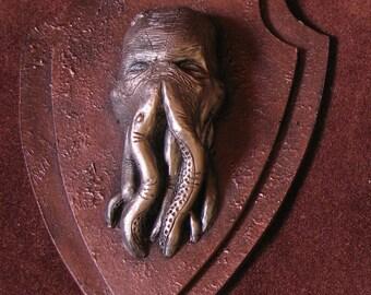 Frame mini trophy steampunk octopus bronze
