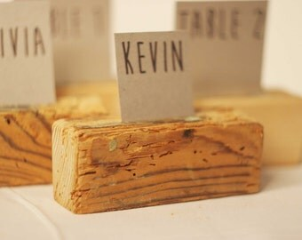 150 pieces Rustic place card holders, Wedding card holders, name card holders, Rustic wedding table number holder, wooden card holders