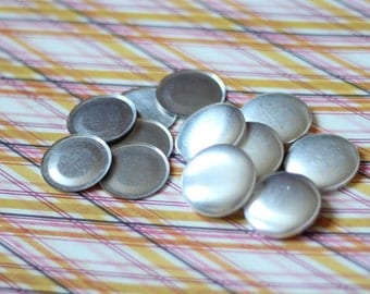 """25 Flat Back Cover Buttons Size 45 Fabric Covered Buttons 1 & 1/8"""" FLATBACK // ships from USA"""