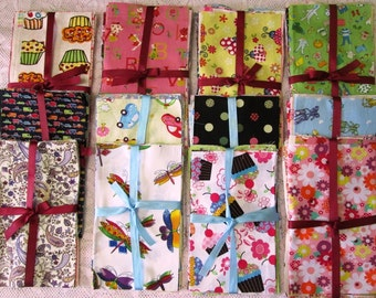 10pcs scraps pack different cute print ~ cotton fabric for Quilting and CRAFT