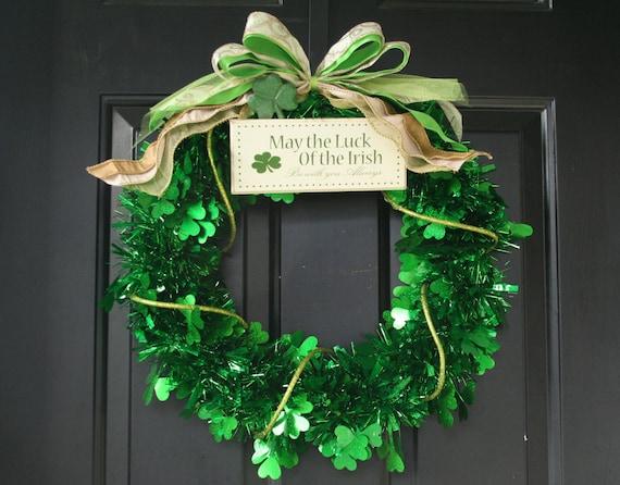 Kiss Me Celtic Wreath Door Decorations Irish Home Decor  |Ireland Door Decorations