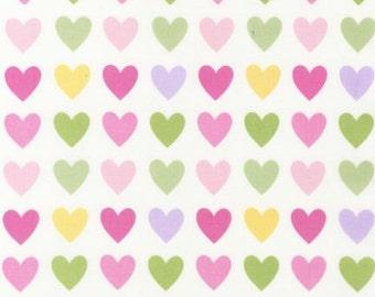 UK Shop: Remix Spring Hearts Robert Kaufman Cotton Fabric