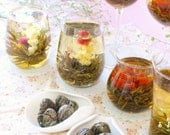 8 Assortment Blooming Tea / Flowering Tea / Handcrafted Flower Tea Ball Scented with 100% Natural Flower Buds