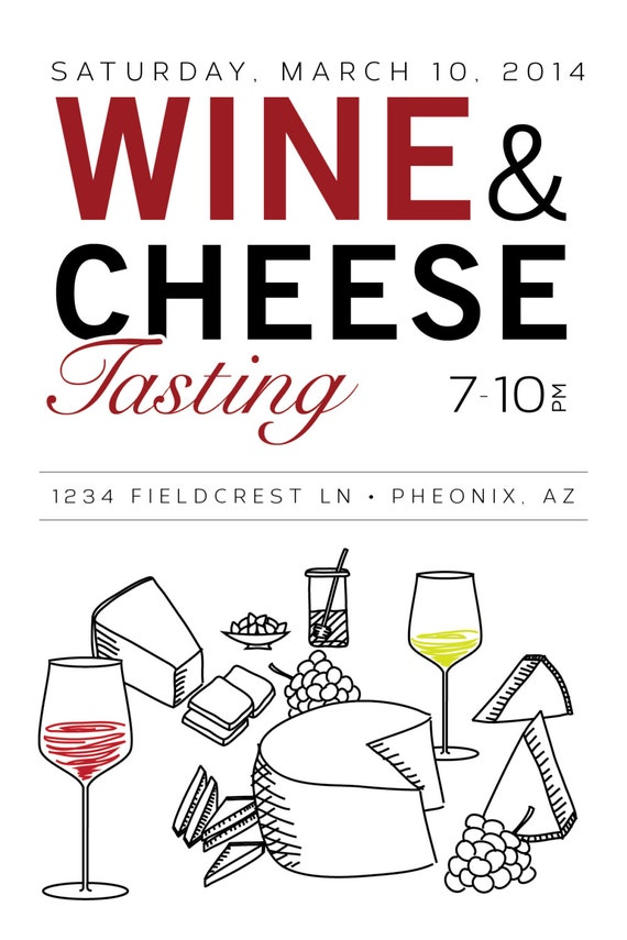 wine tasting party invitation templates