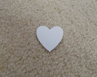 "25 Hearts for Scrapbooking/Cardstock Cutout Embellishments! Measures 2"" x 2"""