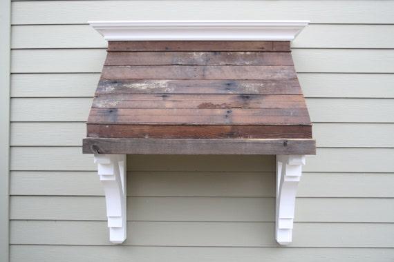 Items Similar To Wood Hood Reclaimed Wood Kitchen Hood