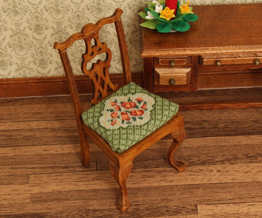 Kit Dollhouse Dining Chair Furniture Half By Dollhouseembroidery
