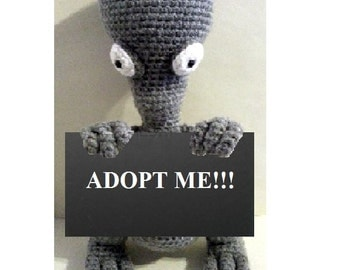 Roger the Alien Plush (American Dad) - Amigurumi Crochet doll