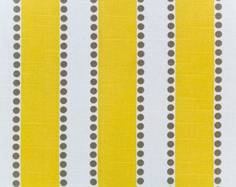 Sale Remnant 2/3 yard Premier Prints Fabric Lulu Corn Yellow Slub and Kelp Fast Shipping