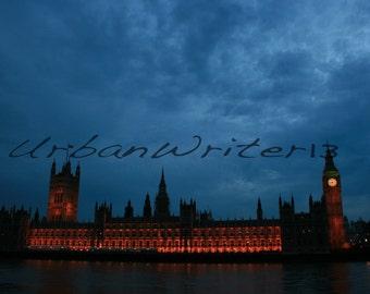 Big Ben with Parliament London England photograph