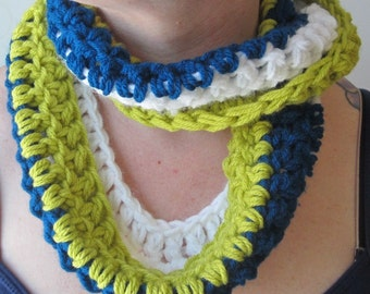 Chunky Cool Tones Infinity scarf