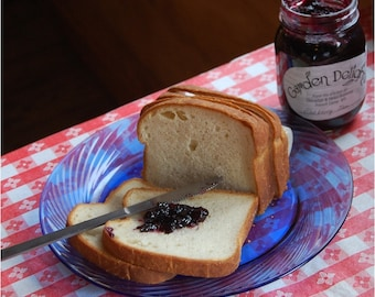 French Camp Bread (Homemade Loaf Yeast Bread - White and Sorghum Molasses Wheat)