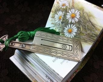 Sterling silver hachette bookmark handmade