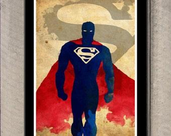 Minimalist Superhero Poster - Superman