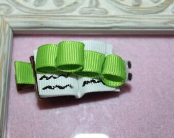 Book Worm Ribbon Sculpture Hair Clip