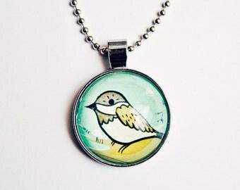 bird pendant SPARROW NECKLACE handmade everyday necklace animal jewelry sparrow charm sparrow jewelry necklace 16 inch necklace