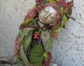 OOAK Art Doll, Zen Garden Quan Yin  Assemblage  by Griselda