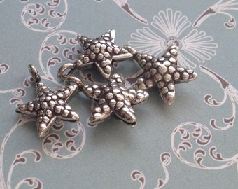 Starfish charm, Hill Tribe silver, silver starfish charm, karen hill tribe silver
