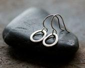 Silver Teardrop Earrings, Sterling Silver Dangle Earrings, Everyday Earrings, Sparkly Silver, Versatile Earrings, Handmade Jewelry