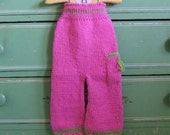 Wool Longies, Hand Knit Diaper Cover, Nappy Pants