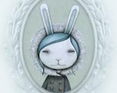 Snow Bunny, archival print of original illustration by Anna Tillett Designs