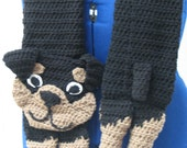 Crochet Rottweiler Dog Scarf Made to Order