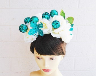 Dia De Los Muertos Headband, Flower Crown Headband, Flower Crown, Day of the Dead Headband, Day of the Dead Headdress