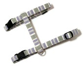 Cat Harness - Soft Preppy Stripes - Cute, Soft and Fancy for Cats and Kittens