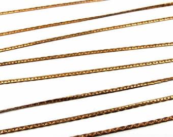 Vintage Brass Foxtail Chain Choker Necklace (3X) (C594)
