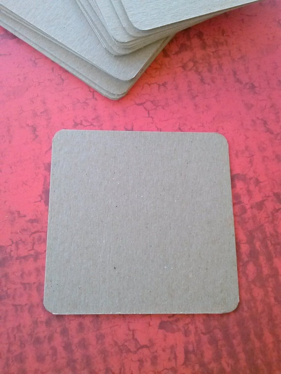 Chipboard Coasters - Set of 20 - Party Supply - Coaster Blanks - Rounded Corners