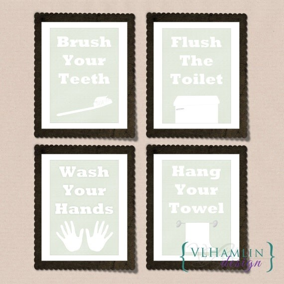 items similar to printable wall art mint green bathroom