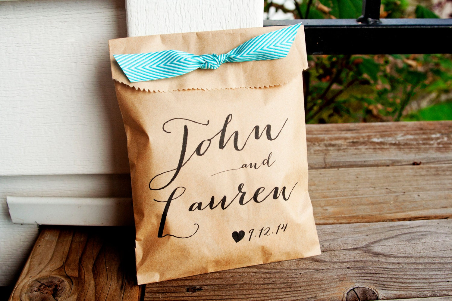 wedding favor bags personalized wedding favor bag country