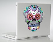 Sugar Skull Vinyl Decal Sticker Day of the Dead Flower Mexican Skull