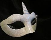 Unicorn Half Mask for Cosplay, LARP, Steampunk, Lot5R, Mardi Gras, Halloween
