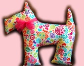 Instant Download 1/2 Yard Scotties Scotty Dog Plush Pattern Pillow DIY Sewing Tutorial