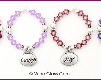 Wine Charms - Words to Live By
