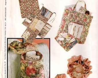 McCall's 657 - 10 SEWING and NEEDLEWORK ACCESSORIES, Organizers - Terrific Gift Items Bazaar Items