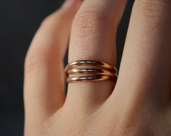 Infinite Going in Circles ring - 14kt gold-filled stacking ring, 14k gold filled wrap ring, 14k gold fill wrapped ring, gold stackable ring