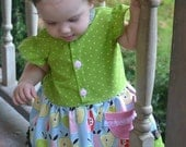"Lainey Lou Dress PDF Sewing Pattern.  Sizes 0-3 Months - 12, 18"" doll"