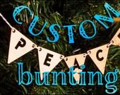 Custom Lasercut Bunting Ornament