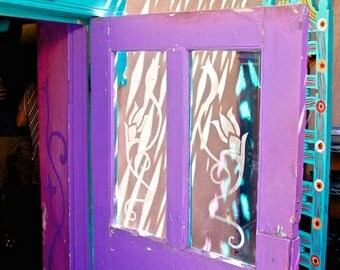 door purple violet turquoise photograph abstract color, light shadows